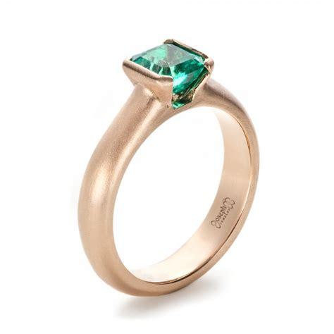 custom gold emerald ring 1427