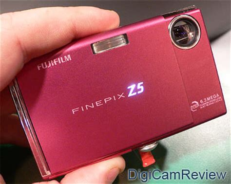 Fujifilm Finepix Z5m Ultracompact Digicam In Pink digicamreview focus fujifilm finepix z5 in pink