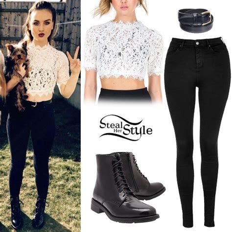 perrie edwards lace shirt perrie edwards posted a picture on instagram wearing a