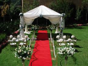 Outdoor garden wedding ceremony decorations ideas 4