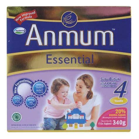 Anmum 1 Tahun Hypermart Anmum Essential 4 Vanilla Box 340 Gr