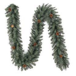 shop holiday living 9 ft unlit indoor outdoor scottsdale pine artificial christmas garland at