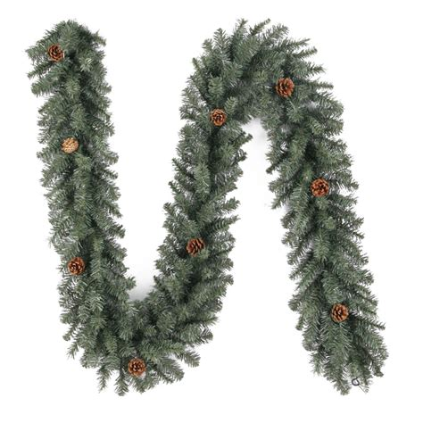Outdoor Pre Lit Garland - shop living 9 ft unlit indoor outdoor scottsdale