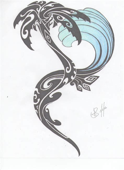 tribal wave tattoo designs palm tree images designs