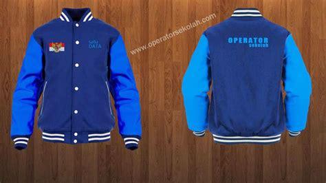 desain baju keren depan belakang contoh desain baju jaket operator sekolah simpel keren