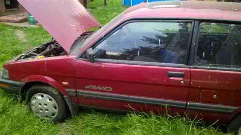 subaru 1992 justy sl 4wd red car for sale subaru 1992 justy sl 4wd red car for sale