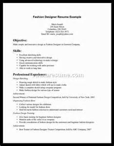 Sample Resume For Fashion Designer fashion designers resume samples alexa resume