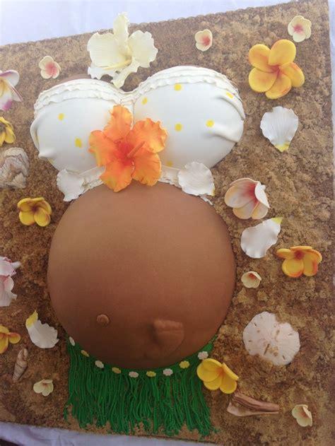 Baby Showers Hawaii hawaii luau theme baby shower baby bump cake all flowers