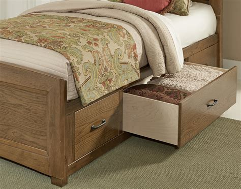 low profile under bed storage vaughan bassett transitions twin panel bed with underbed storage olinde s furniture