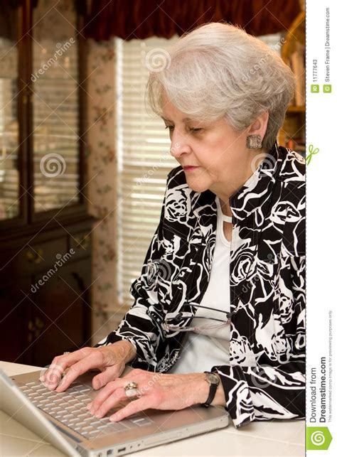 senior working at home stock photos image 11777643