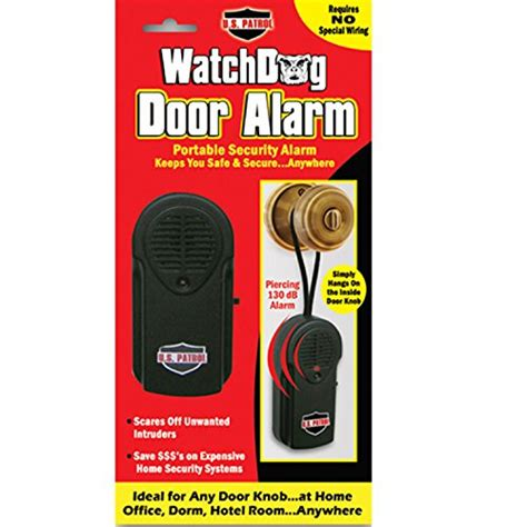 Door Knob Alarm by U S Patrol Jb5533 Watchdog Door Knob Alarm New Ebay