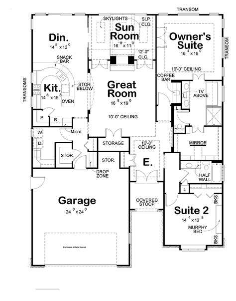 House Plans With Large Kitchens Bedroom Designs Two Bedroom House Plans Large Garage