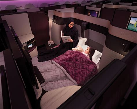 bedroom business qatar airways new business class design converts into a