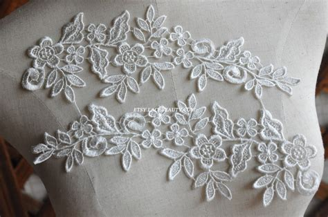 lace applique venice lace appliques ivory floral embroidered patches for