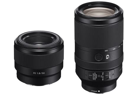 50mm F1 8 sony fe 50mm f1 8 and 70 300mm f4 5 5 6 g oss lens in