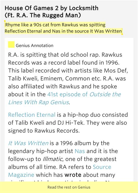 locksmith ra the rugged rhyme like a 90s cat from rawkus was spitting house of 2