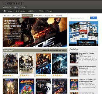 theme blog movie template movies blogspot johny prett theme film marketing