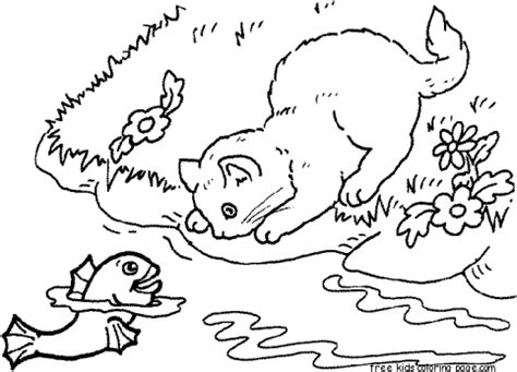 Print out catfish coloring pages for kidsFree Printable