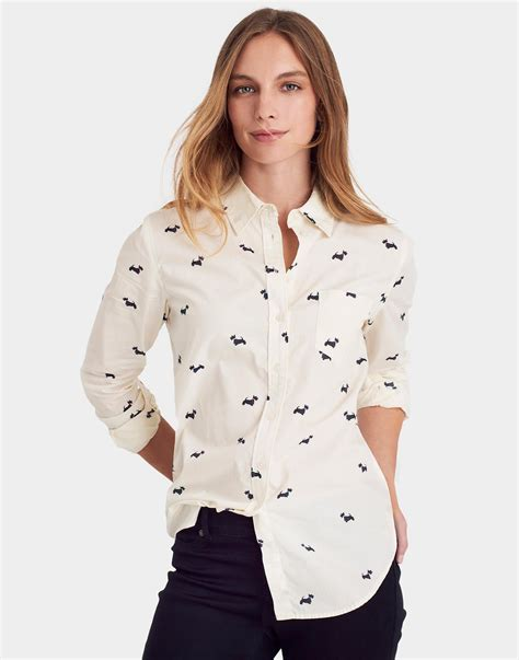 Korean Yarn Blouse Blackred 23404 joules s classic fit printed shirt from cotton in scotty