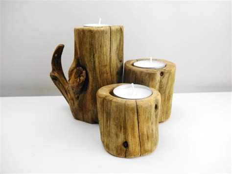 wooden candle wood candle holders wooden candle holder branch by