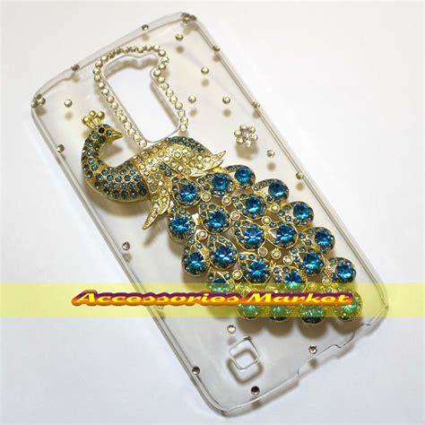 Handmade Bling Phone Cases - for lg k10 m2 f670 cover handmade bling 3d peacock