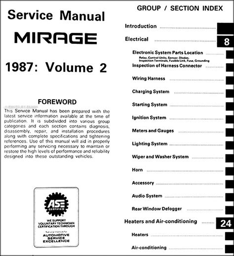 service manual car owners manuals free downloads 1987 mitsubishi mirage electronic valve timing