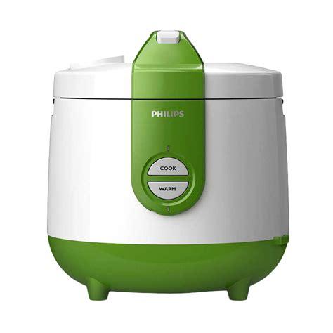 Promo Philips Rice Cooker Hd3118 30 2 0 Liter 400 Watt Penanak Nasi Jual Philips Hd3118 30 Rice Cooker Putih Hijau 2 L