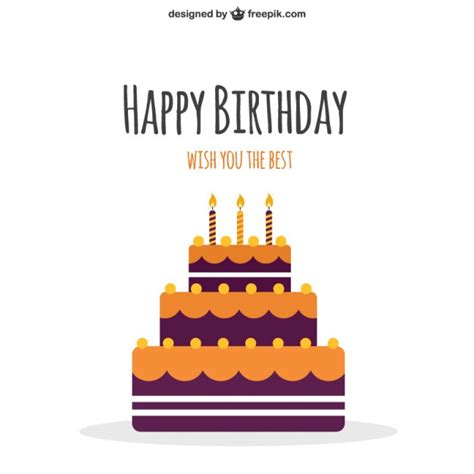 happy birthday minimal design happy birthday cake vector free download