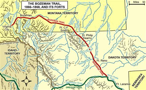 bozeman trail map tribal historical overview dakota studies