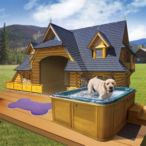 The Lodge Dog House With Spa Love My Pitbulls Pinterest If House Ideas And House