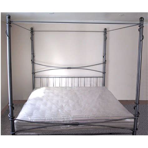 iron four poster bed redhouse bed frame 48 four poster hand forged wrought