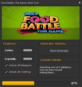 tutorial hack the game food battle the game hack download tutorial