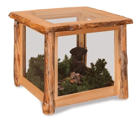 rustic pine end table amish log end table display