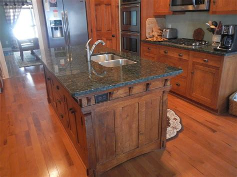 island style kitchen handmade arts and crafts style kitchen island by paul s