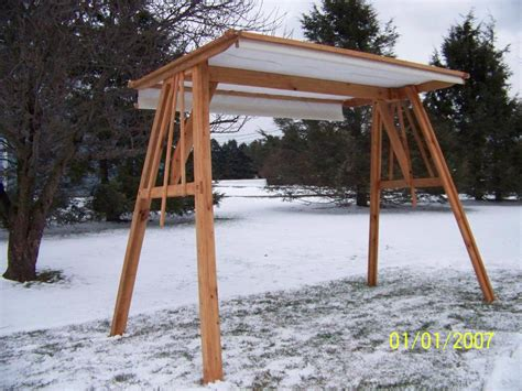 covered swings covered swing stand from ricks wood crafts custom