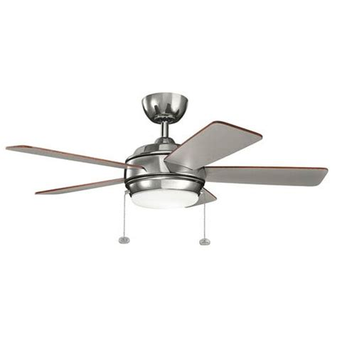 42 inch bronze ceiling fan with light kichler starkk polished nickel 42 inch led ceiling fan