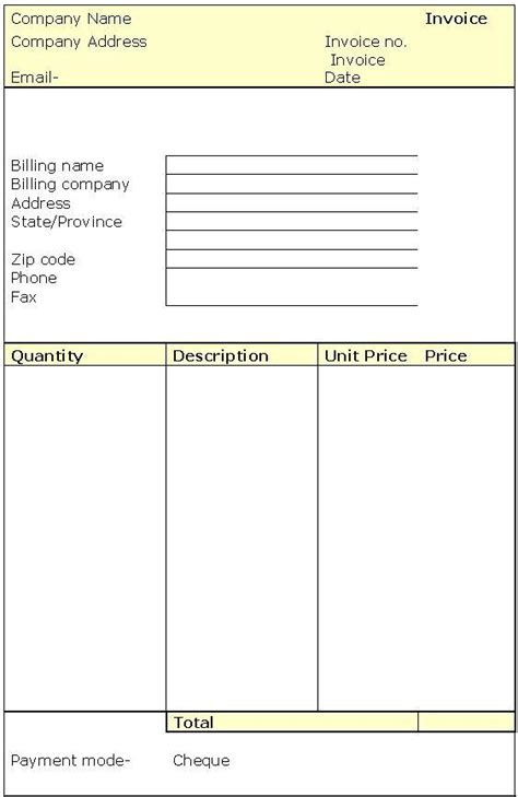 free fillable invoice template free excel invoice template invoice forms blank invoices