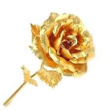 Gold Flower Hair Clip - gold dipped rose ebay
