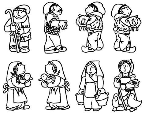 dibujos de navidad para pintar y recortar ba 218 l de navidad pesebre infantil para colorear y recortar