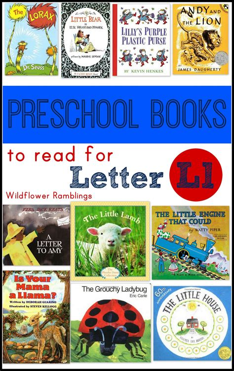 the focused beginnings books preschool books for the letter l wildflower ramblings
