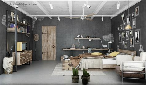 Industrial Home Interior Design by Industrial Bedrooms Interior Design Home Design