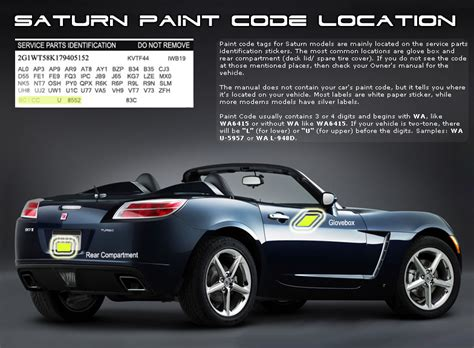 saturn aura 2009 paint codes carid