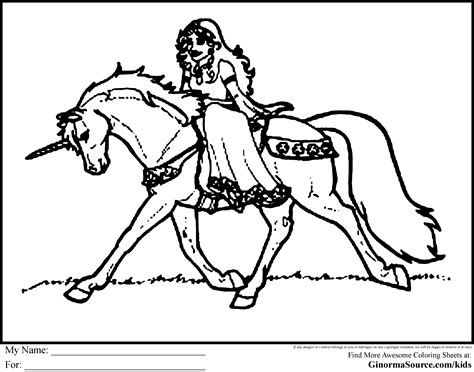coloring pages unicorn princess unicorn coloring pages ginormasource