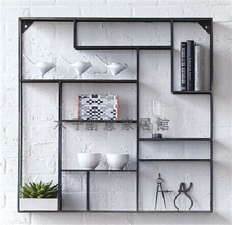 living room display shelves creative iron display shelf display rack on the wall show