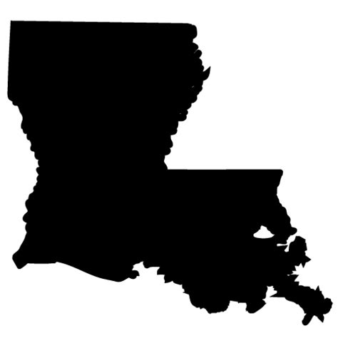 louisiana map black and white america clip totally promotional
