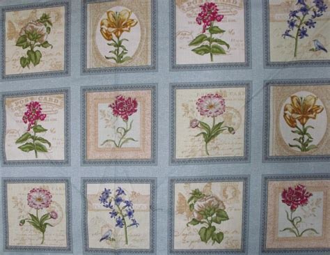 Cotton Quilting by Country Quilting Cotton Sewing Fabric Panel New Arboretum