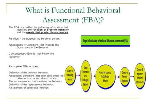 functional behavior assessment functional behavioral assessment and behavior intervention