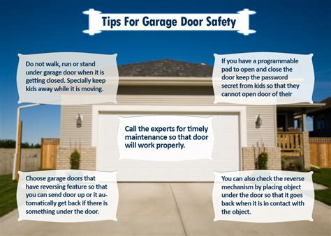garage door safety tips for garage door safety from navi garage doors visual ly