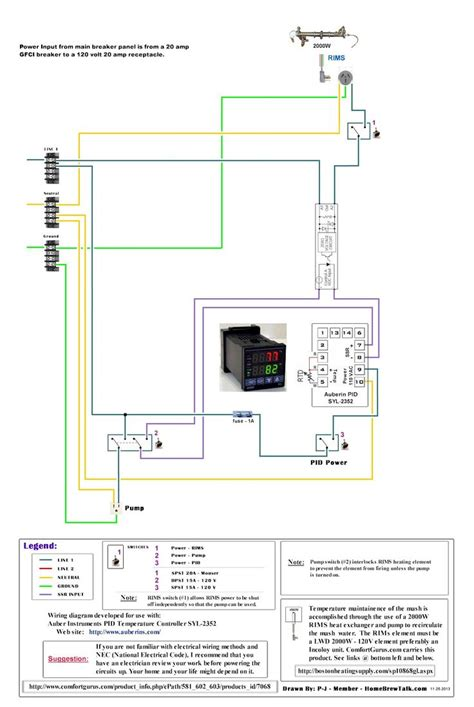electric brewery panel wiring diagram electric