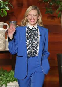 Suit yourself! Cate Blanchett steps out in a stylish cream blazer as